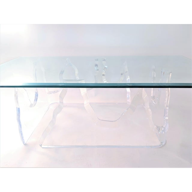 Lion in Frost Lion in Frost Style Lucite Iceberg Coffee 2-Piece Table Base For Sale - Image 4 of 13