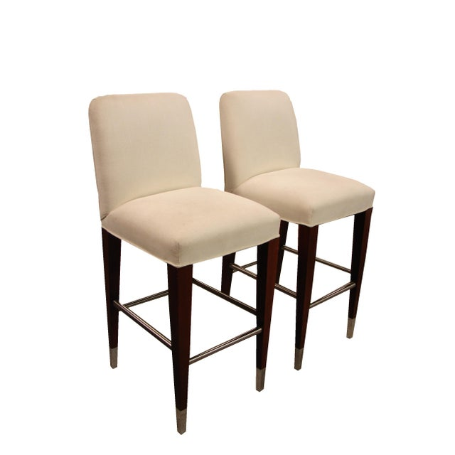 Mid-Century Modern Late 20th Century Original Donghia Bar Stools - a Pair For Sale - Image 3 of 3