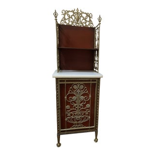 Antique Diminutive Cast Brass and Onyx Hall Stand For Sale