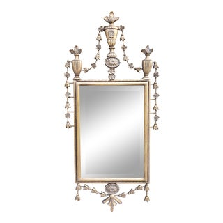 Vintage Decorative Neoclassical Style Gilt Mirror For Sale