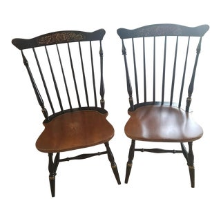 Hitchcock Black Harvest Chairs - A Pair