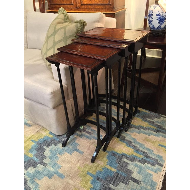 Ebony Early 19th Century English Quartetto Stackable Nesting Tables - Set of 4 For Sale - Image 7 of 12