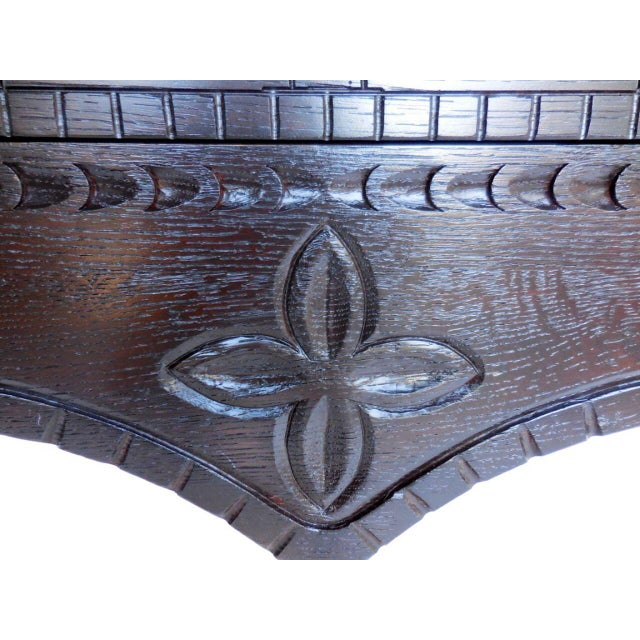 Custom Carved Console with Drawers For Sale In Los Angeles - Image 6 of 7
