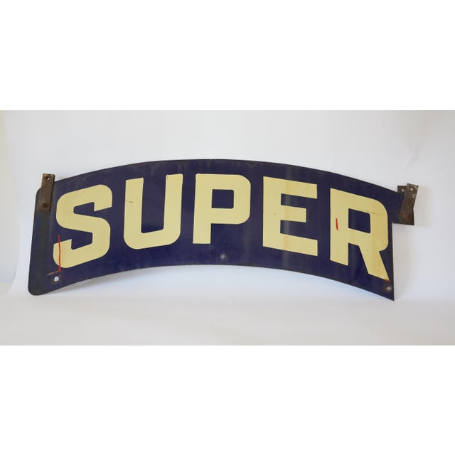 This is a big bold enamel metal store sign from the 1930s. Color and conditions of enamel is excellent (which is rare with...