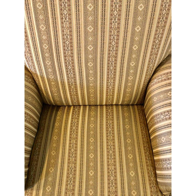 White Pair of Hollywood Regency Style Custom Overstuffed Arm/Lounge Chairs Fine Fabric For Sale - Image 8 of 10