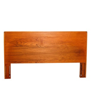 1970s Danish Modern Teak Queen Headboard