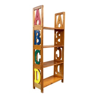 Vintage Abc Kid's Bookshelf For Sale