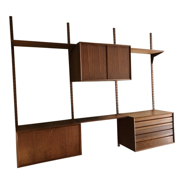 Poul Cadovius Teak Cado Wall Unit Denmark For Sale