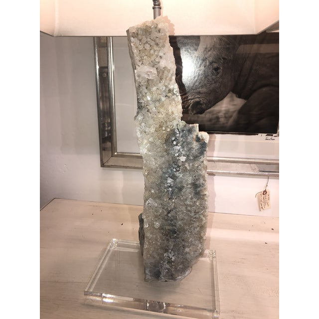 Contemporary One of a Kind Crystal Lamps - a Pair For Sale - Image 3 of 13