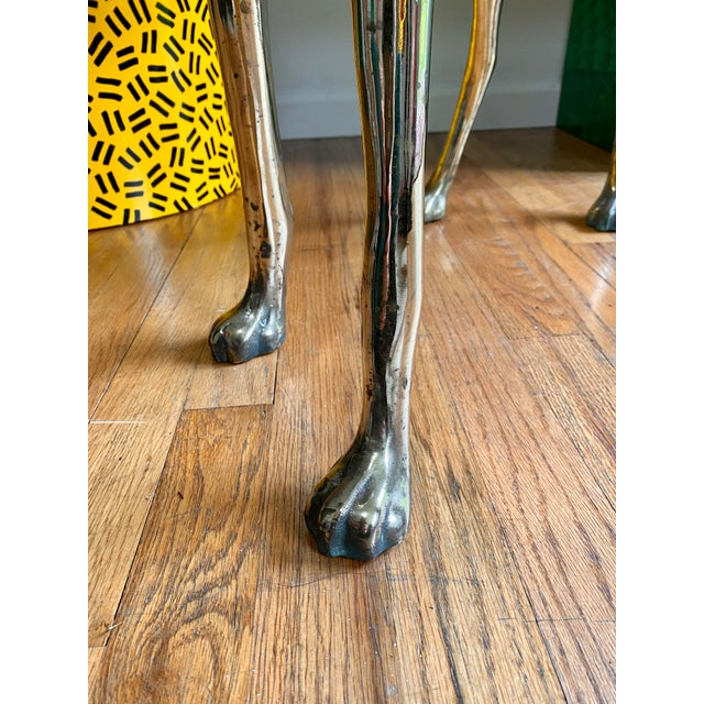 Metal Life Size Vintage Brass Whippet Dog Statue For Sale - Image 7 of 9