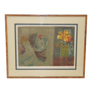 Alvar Sunol Munoz-Ramos Limited Edition Lithograph C.1960s For Sale