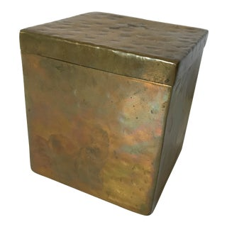 Modernist Bronze Box