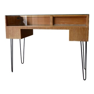 Mid Century Modern Showcase Display Case Hairpin Legs For Sale