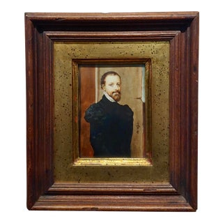 Ida Calzolari Portrait of a 16th Century Spanish Aristocratic Man- Original Painting For Sale