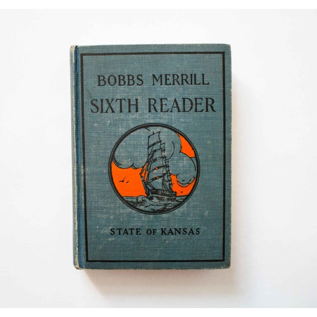 1920s Kansas School Book in Blue For Sale - Image 9 of 9