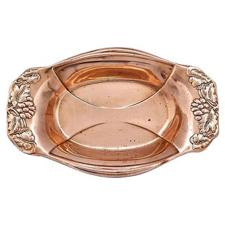 Grapevine Border English Copper Dish For Sale
