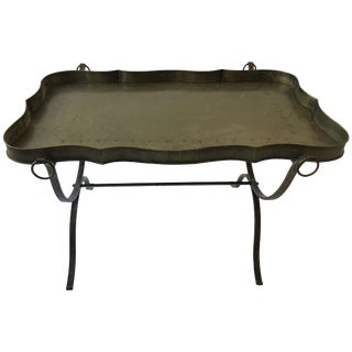 1970s Italian Tole Tray Coffee Table For Sale