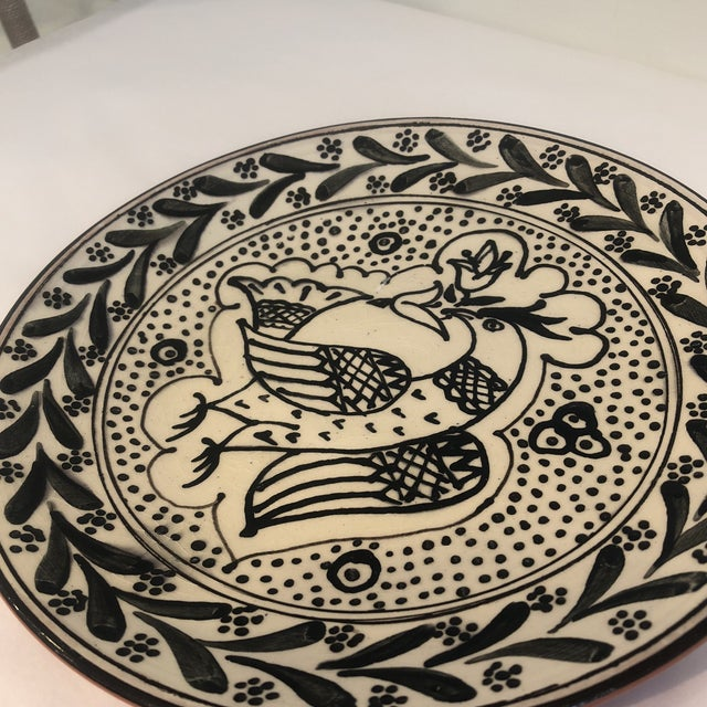 Ceramic Hand-Painted, Portuguese Plate For Sale - Image 7 of 8