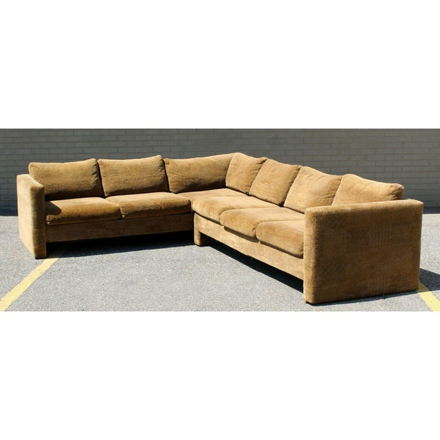 Mid-Century Modern Mid Century Modern Danish Selig 2 Piece Sectional For Sale - Image 3 of 8
