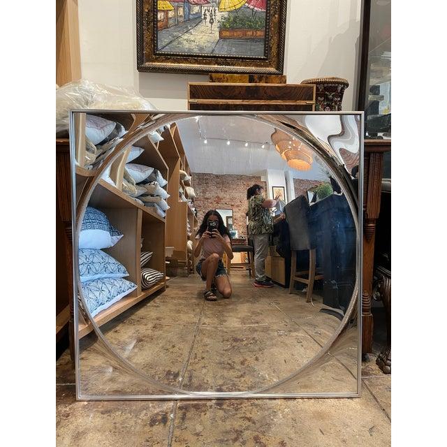 1960's Square Convex Mirror For Sale - Image 12 of 12