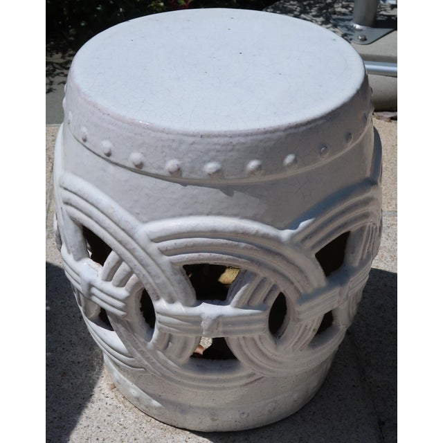 Early 21st Century Indian Rings Ceramic Stool For Sale - Image 5 of 6