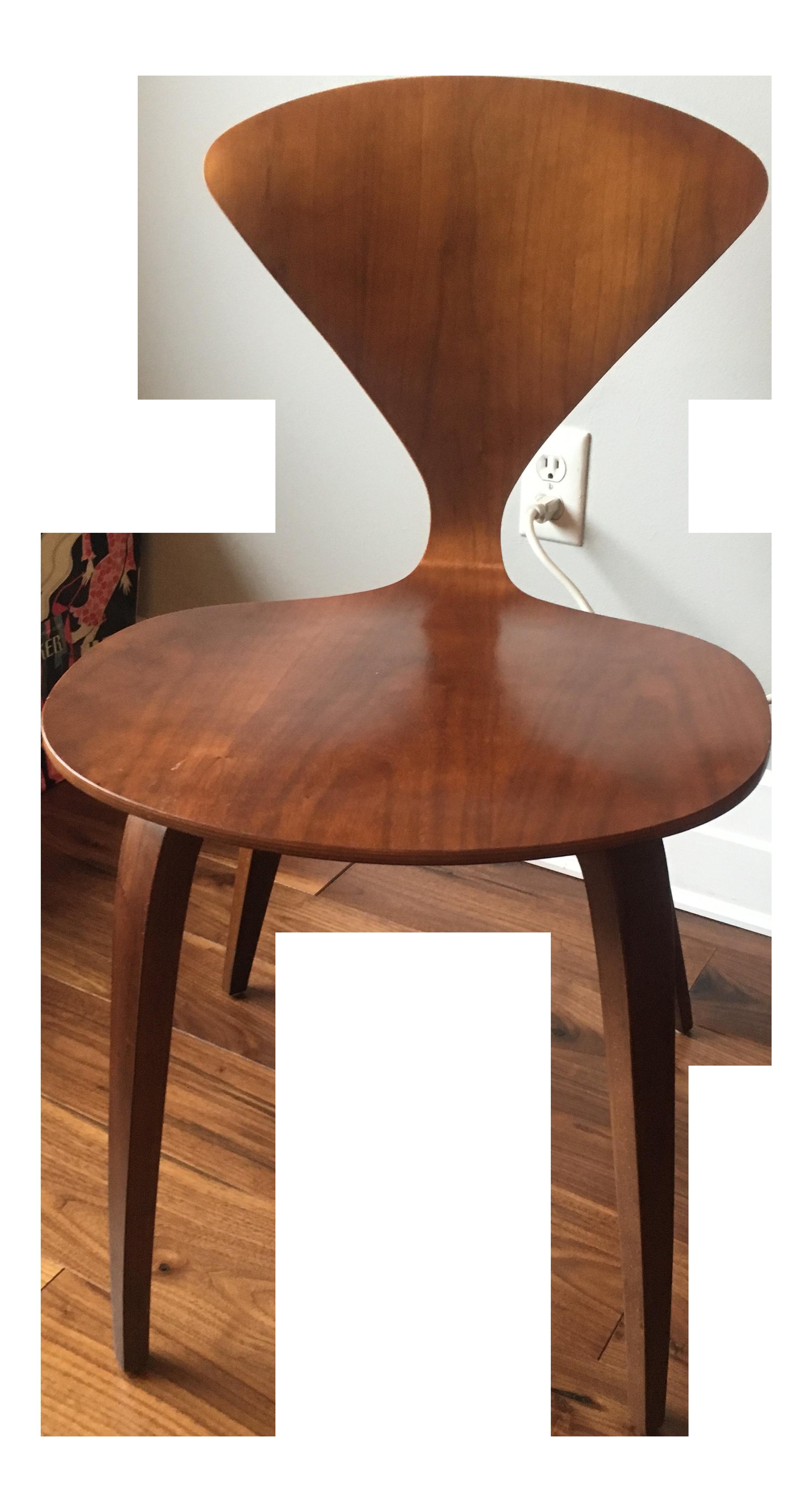 Beau Norman Cherner Molded Walnut Chair