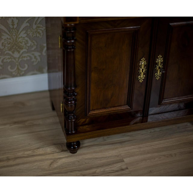 Brown 19th Century Basin Cabinet Veneer with Walnut For Sale - Image 8 of 13