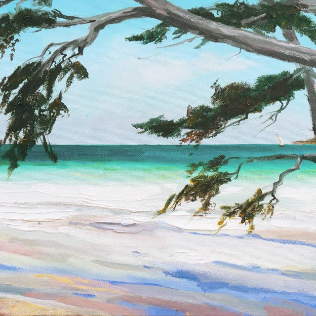 'Carmel Beach, Low Tide' by Kathleen Murray, California Woman Artist For Sale In Monterey, CA - Image 6 of 9