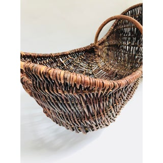 Large French Harvest Gathering Basket Preview