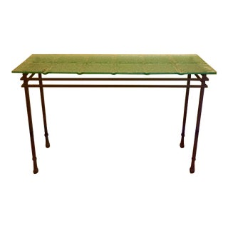 Transitional Charleston Forge Ice Block Console Table
