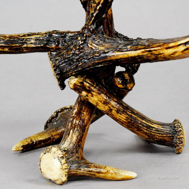 Late 19th Century Great Antique Antler Candelabra 1900 For Sale - Image 5 of 6