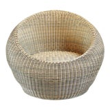 Image of Outdoor Rattan Bubble Chair For Sale