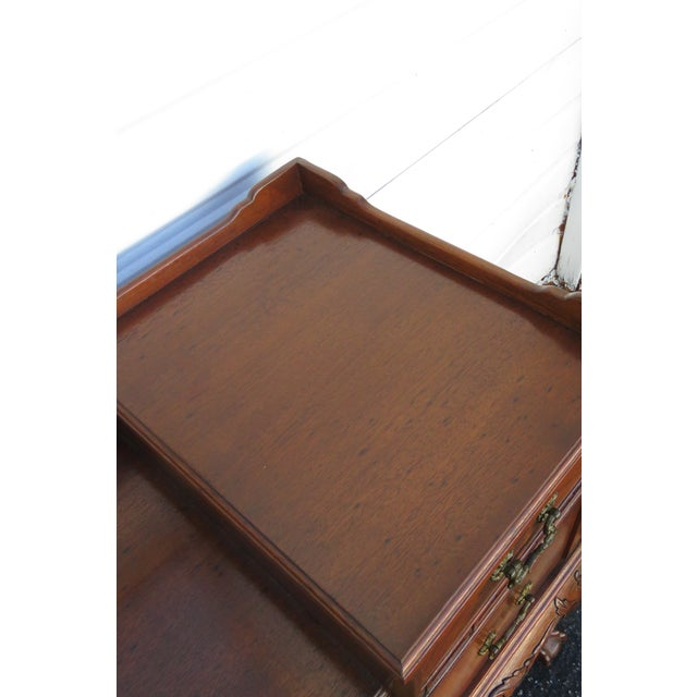 Metal Chippendale Ball and Claw Feet Flame Mahogany Vanity Table and Mirror For Sale - Image 7 of 13