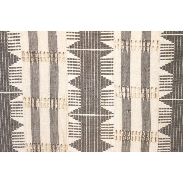 Gray 1970s Framed Modernist Textile For Sale - Image 8 of 13