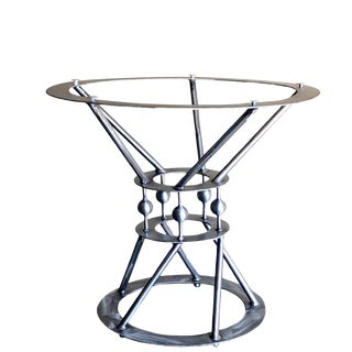 Invictus Steelworks Round Pedestal Dining Table For Sale