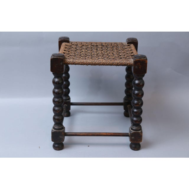 Early English Bobbin Oak Footstool - Image 6 of 8