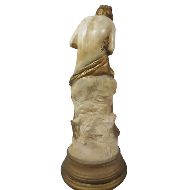 Gilt Classical Statue On Pedestal - Image 7 of 9