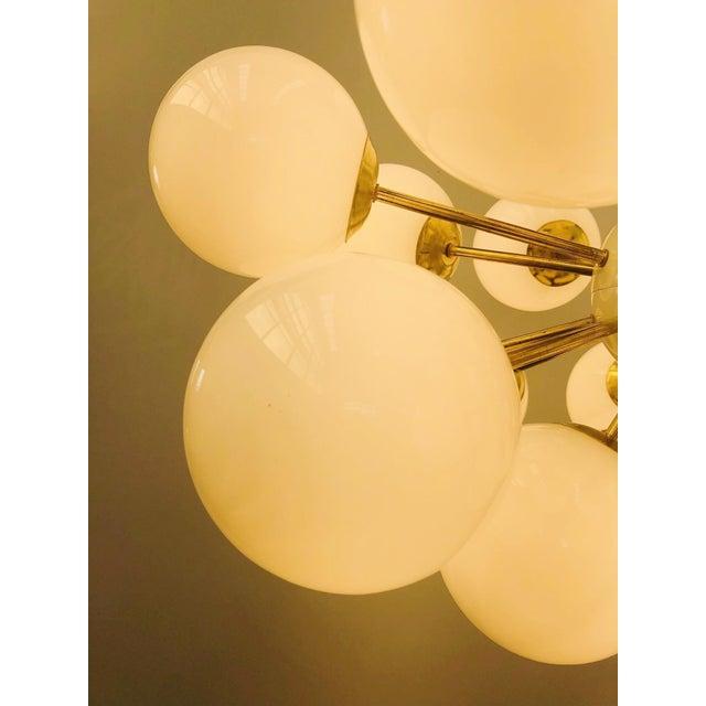 White Ovale Sputnik Chandelier by Fabio Ltd For Sale - Image 8 of 12