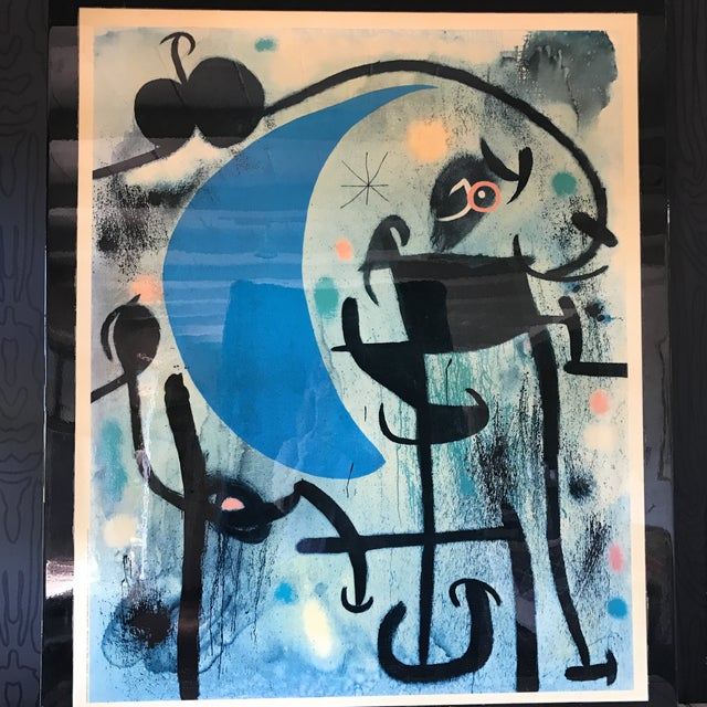 Joan Miro 1980's Lacquer Mounted Italian Poster - Image 10 of 10