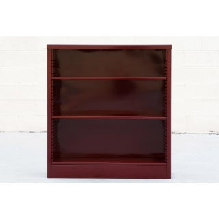 1960s Tanker Style Steel Bookcase Refinished in Red Wine Preview