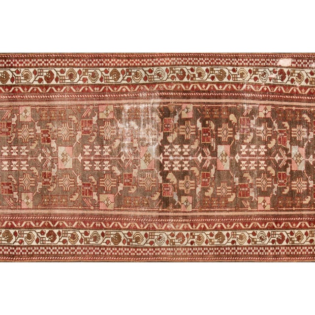 "1910s 1910s Traditional Apadana-Antique Persian Distressed Rug - 2'3"" X 10'0"" For Sale - Image 5 of 11"