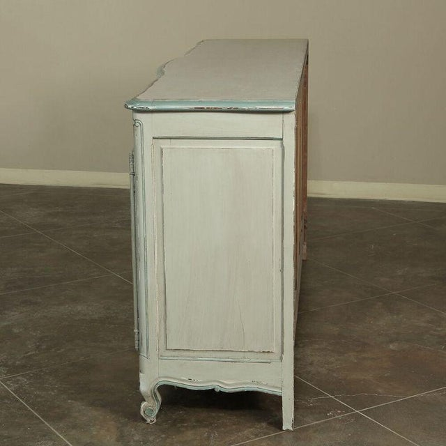 Antique Country French Painted Buffet For Sale In Baton Rouge - Image 6 of 10