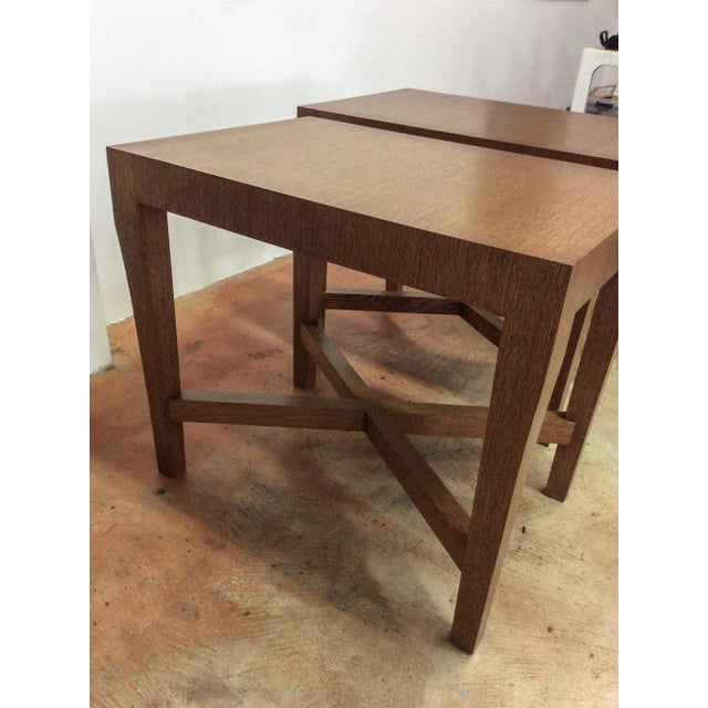 Modern Wood Side Tables - A Pair For Sale - Image 5 of 7