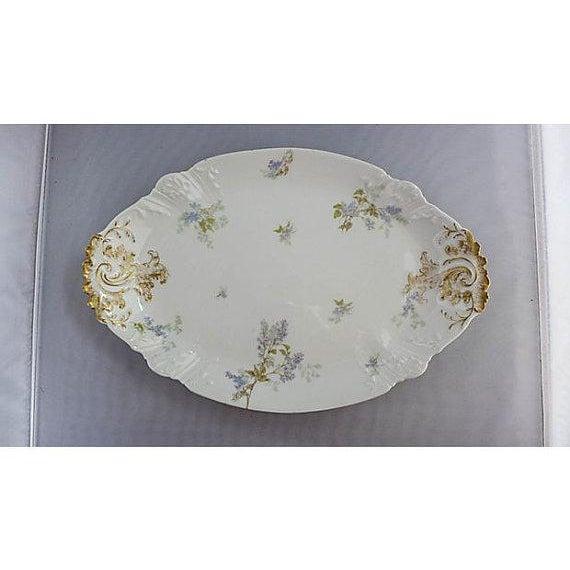 Ceramic French Haviland Limoges Floral Platter For Sale - Image 7 of 7