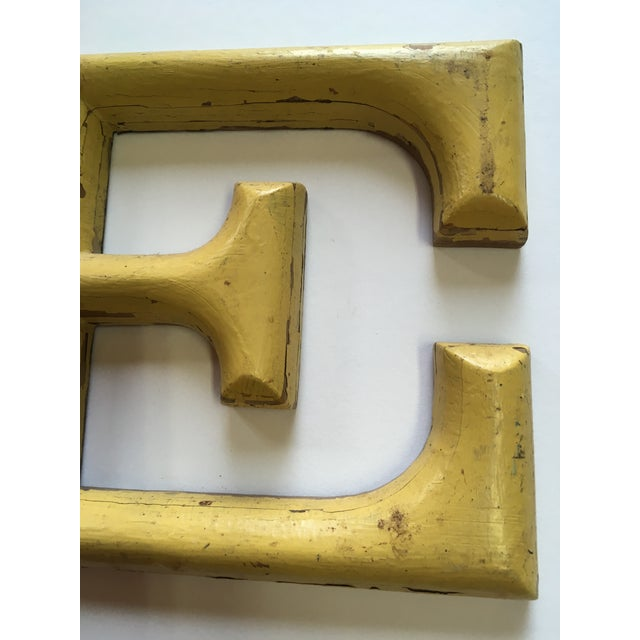 """1940s French Letter """"E"""" Sign For Sale - Image 6 of 8"""