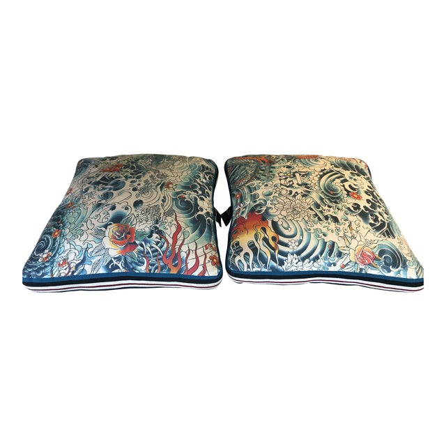 Jean Paul Gaultier Decorative Pillows - A Pair For Sale