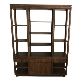 Drexel Mid-Century Modern Book Shelf Wall Unit For Sale
