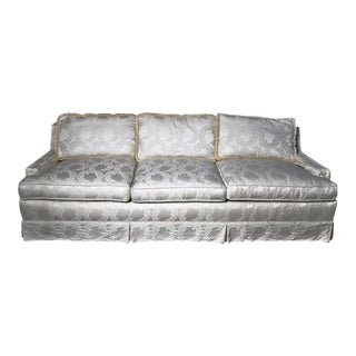 Contemporary Ivory Upholstered Sofa