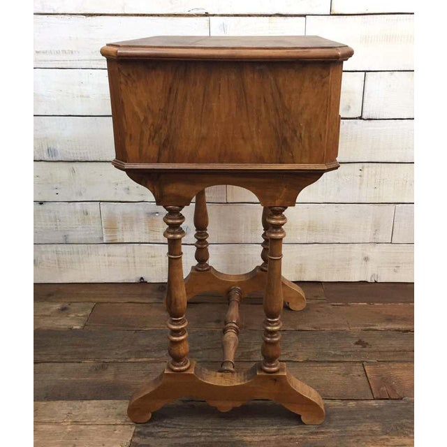 Antique French Vanity Armoire Desk, Burl Wood & Walnut - Image 10 of 10