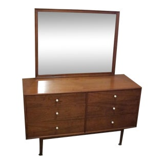 Mid-Century Modern Danish Dresser & Mirror For Sale